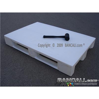 RACK80x120CDJ - EuroPALLET Igienico 800x1200 mm. con standard HACCP, idoneo per scaffale con 3 slitte e 3 Barre di Metallo nel pianale come rinforzo. Peso Tara 19 Kg.