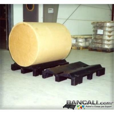 RCP67P9D20LK5 - Roll Cradle Pallet 670x1000 mm  Max Diameter 2000 mm. Tara 21 Kg.