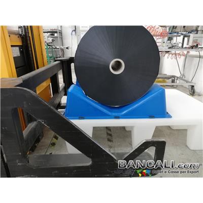 Bancale a sella con 2 culle posizionabili a piacere con altezza o quota fino a 350 mm e oltre. Per operazioni Flexo a bordo maccchina. Peso tara 22 Kg.