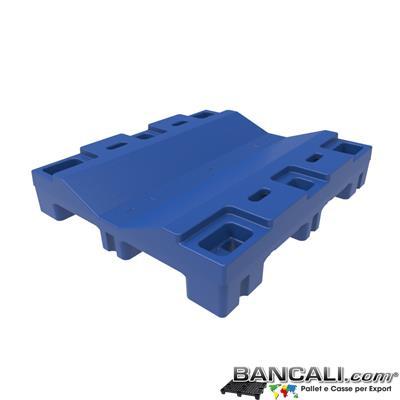 Pallet a Sella per Bobine 1070x1220 in Plastica LLDPE h.240 mm. D Max 1400 mm. d Min 600 mm. Pianale con superficie perfettamente Liscia. Accatastabile a vuoto in modo spettacolare. Peso Tara 24 Kg.