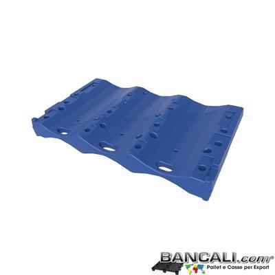 Pallet a Sella per 3 Bobine 1670x1700 h.300 mm. D Max 680 mm. d Min 340 mm. Idoneo per 3 bobine diametro 340 mm.  in plastica:  LLDPE Peso Tara 20 Kg.