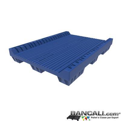 Pallet a Sella per 5 Bobine 1100x1540 h.220 mm. Diametro 70 mm.  Idoneo per 5 bobine. in plastica:  LLDPE Peso Tara 36Kg.