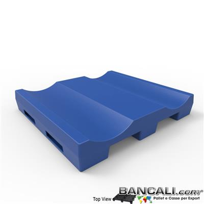 Pallet a Sella per 2 Bobine 1120x1220 h.200 mm. D Max 600 mm. Idoneo per 2 bobine diametro 600 mm.  in plastica:  LLDPE Peso Tara 25 Kg.