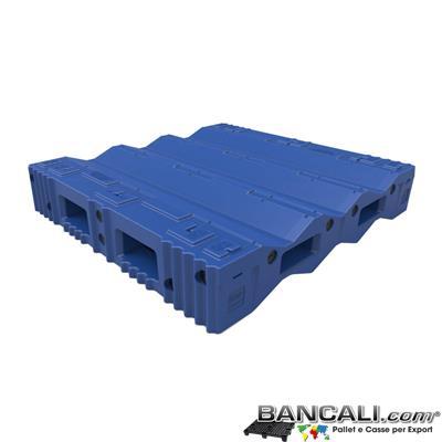 Pallet a Sella per 3 Bobine 1670x1700 h.300 mm. D Max 810 mm. d Min 305 mm. Idoneo per 3 bobine diametro  406 mm.  in plastica:  LLDPE Peso Tara 73 Kg.