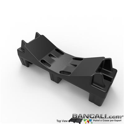 Pallet a Sella per Bobine 380x1220 h.400 mm. D Max 1520mm. d Min1090 mm. in plastica: LLDPE Peso Tara  15 Kg.