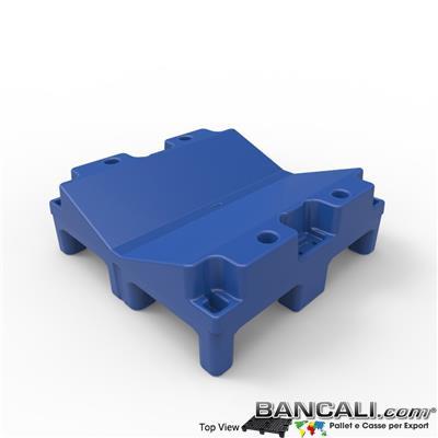 Pallet a Sella per Bobine 670x670 h. 240 mm. D Max 1270mm. d Min 260mm. in plastica: LLDPE Peso Tara 12 Kg.