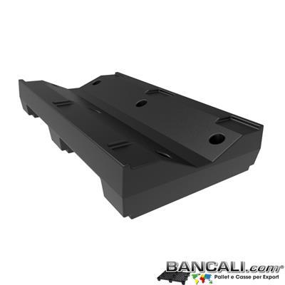 Pallet a Sella per Bobine 700x1200 h. 210 mm. D Max 1120mm. d Min 380 mm. in plastica: LLDPE Peso Tara 18 Kg.