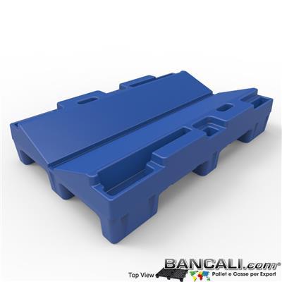 Pallet a Sella per Bobine 760x1220h. 240 mm. D Max 1270 mm. d Min 254 mm. in plastica: LLDPE Peso Tara 23 Kg.