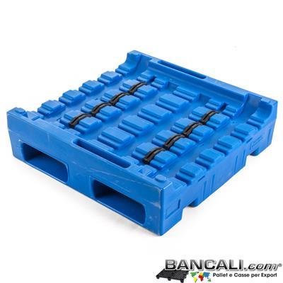 Pallet a Sella per 3 Bobine 900x900 h. 255 mm. D Max 127 mm. d Min 25 mm. in plastica: idoneo per 3 Bobine diametro 180 mm. LLDPE Peso Tara 27 Kg.