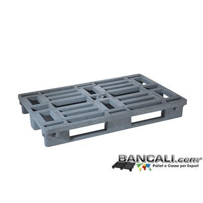 Rack80x120Ry - EuroPallet per Scaffale 80x120 per export di Grosse Portate     3 slitte sotto, Reciclato. Kg 26