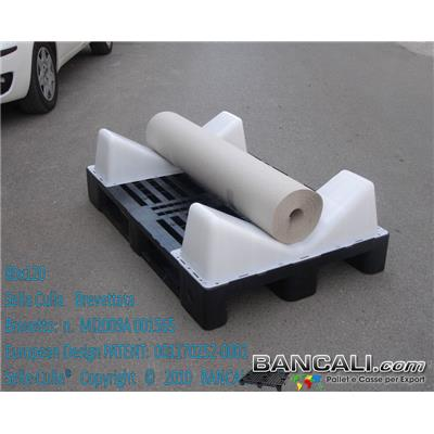 Roll-Cradle-EuroPAL-2s - EuroPallet in Plastica con 2 selle montate
