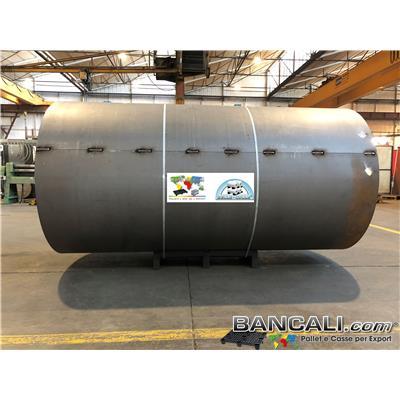 SELLA-LK4-SILOs - stoccaggio di cilindro grande su sella LK 4 con dimatri grandi e portata rilevante.