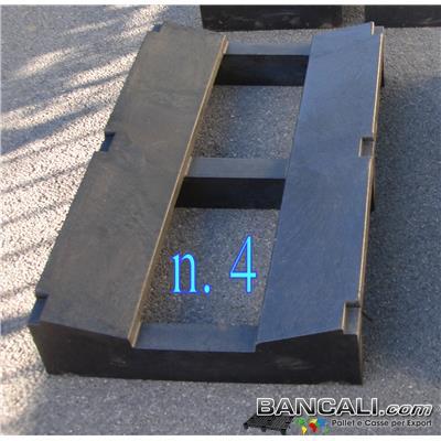 Pallet a Sella in Plastica 600x1000 mm h.175 mm. LK4 Culla Diametro Max 1500 mm. 2 vie Portata 4 TONs Peso Tara 23 Kg.