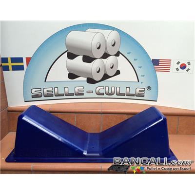 Sella-Culla-NY-PA - Sella Culla in Plastica di Nylon a forma di V per Bobine di Diametro da 250 mm. a Rotoli Max Ø 1200 mm. Porta Cilindri Forte e Resistente Peso Tara Kg. 1,9