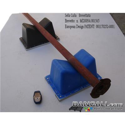 Sella-Culla40x27h20-2PT - Sella Culla su misura in Plastica per alloggiamento di alberi in metallo.