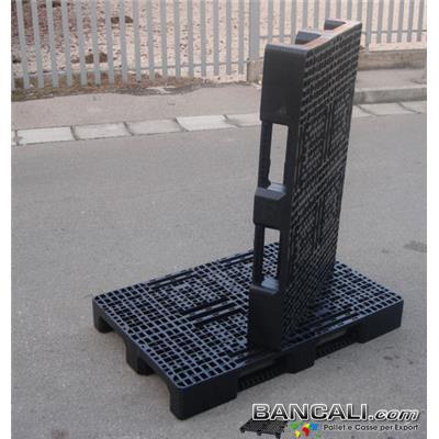Stack80x120EuroExport - EuroPallet Sovrapponibile 80x120 in Plastica con 3 Slitte MonoBlocco Monofusione Tara Kg. 11,4 per Portate fino a 1.400 Kg.  e statiche 3.000 Kg. (uno sopra l'altro). Confezione da 16 Pezzi.