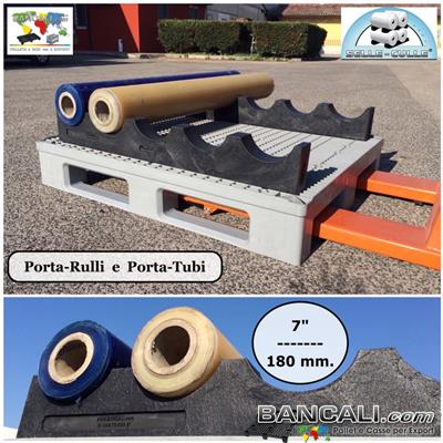 Base Trave Korona in Plastica Piena a 5 Culle o Gole Lunghezza 1070 mm. Diametro 7
