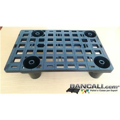 microPAL38x58 - microPALLET®  Espositore 385x585 h 125 mm. Display Pallet in Plastica Espositore Grigliato 4 piedi.   Peso Tara 1,1 Kg.