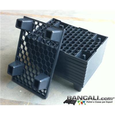 microPL40x60A - microPALLET® in Plastica 400x600 mm. a maglia esagonale, EXPORT-PALLET®  Suggerito anche per le Spedizioni Aeree: AirPALLET®  Peso Tara Kg. 1,5