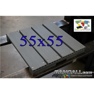 miniP55x55sea - Pedana in Plastica 550x550 mm. h.70 mm. su Misura Piano Ruvido inforcabile 2 vie Tara Peso Kg. 6,8