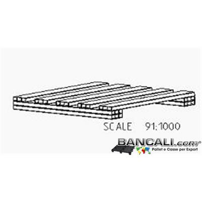 miniPAL2Vie55 - miniPallet Plastica  55x55 cm  h.6 cm  in PET  2 vie  kg  2,3